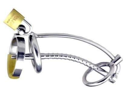 "7239AR      The Shaft 5"" Hollow Steel Penis Plug Locking Chastity Device with Glans Ring - Sale BDSM, Bondage Gear, Adult Toys, Bondage Sex, Orgasm Belt, Male Chastity, Gags. Bondage Slave Collars, Wrist Cuffs, Submissive, Dominant, Master, Mistress, Crossdresser, Sub-Shop Bondage and Fetish Superstore"