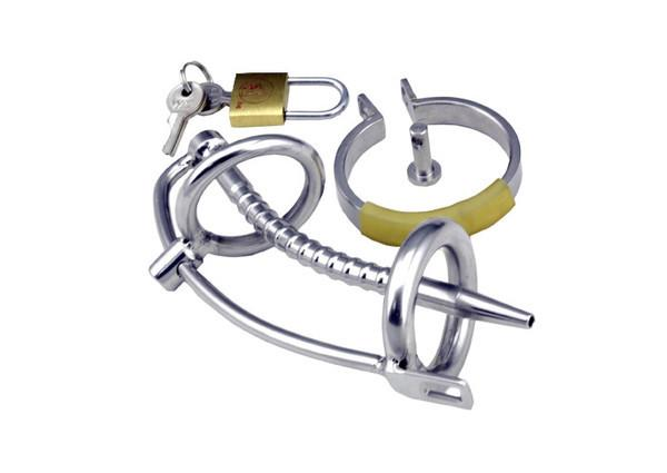 "7239AR      The Shaft 5"" Hollow Steel Penis Plug Locking Chastity Device with Glans Ring <b>DEAL FRENZY</b> - Sale BDSM, Bondage Gear, Adult Toys, Bondage Sex, Orgasm Belt, Male Chastity, Gags. Bondage Slave Collars, Wrist Cuffs, Submissive, Dominant, Master, Mistress, Crossdresser, Sub-Shop Bondage and Fetish Superstore"