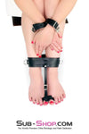 Toe Bondage Ankle Cuff Trainer, Black Leather - Sale BDSM, Bondage Gear, Adult Toys, Bondage Sex, Orgasm Belt, Male Chastity, Bondage Gag. Bondage Slave Collars, Wrist Cuffs, Submissive, Dominant, Master, Mistress, Cross Dressing, Sex Toys, Bondage Sale, Bondage Clearance, MEGA Deal Bondage, Sub-Shop Bondage and Fetish Superstore