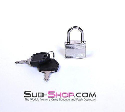 757A      Small Silver Bondage Gear Padlock - Sub-Shop Bondage and Fetish Superstore