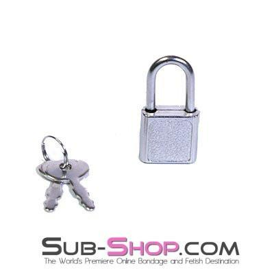 759A   Mini Charm Bondage Padlock - Sale BDSM, Bondage Gear, Adult Toys, Bondage Sex, Orgasm Belt, Male Chastity, Gags. Bondage Slave Collars, Wrist Cuffs, Submissive, Dominant, Master, Mistress, Crossdresser, Sub-Shop Bondage and Fetish Superstore
