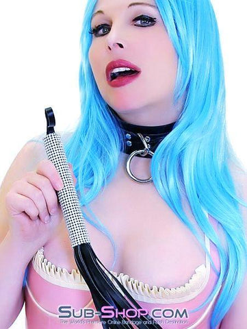 "7786DL      Domme's Best Friend Rhinestone Handle 27"" Flogger Whip - <b>Deal FRENZY!</b> - Sub-Shop.comDeal FRENZY - 2"