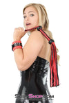 "Braided Red & Black 19"" Leatherette Flogger Whip - Sale BDSM, Bondage Gear, Adult Toys, Bondage Sex, Orgasm Belt, Male Chastity, Bondage Gag. Bondage Slave Collars, Wrist Cuffs, Submissive, Dominant, Master, Mistress, Cross Dressing, Sex Toys, Bondage Sale, Bondage Clearance, MEGA Deal Bondage, Sub-Shop Bondage and Fetish Superstore"