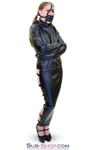 7850DL      Captured Beauty Faux Leather Straitjacket with Leg Binder - Sub-Shop.comStraitjacket - 1