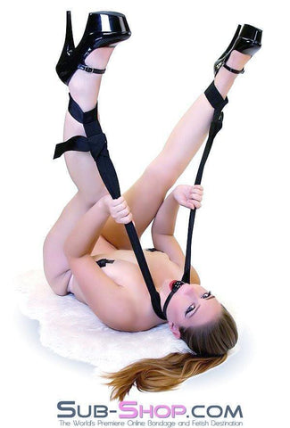 7858DL      Sex Sling Cuffs Nylon Adjustable Padded Neck to Ankle Cuffs - Sub-Shop.comCuffs - 1