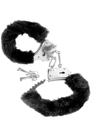 792P     Beginner Furry Lover's Cuffs, Black - Sub-Shop.comHandcuffs - 1