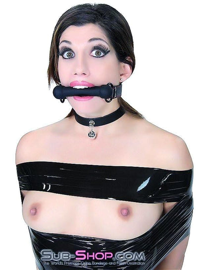 7929DL    Black Beauty Silicone Rubber Comfort Bit Gag - Sale BDSM, Bondage Gear, Adult Toys, Bondage Sex, Orgasm Belt, Male Chastity, Gags. Bondage Slave Collars, Wrist Cuffs, Submissive, Dominant, Master, Mistress, Crossdresser, Sub-Shop Bondage and Fetish Superstore