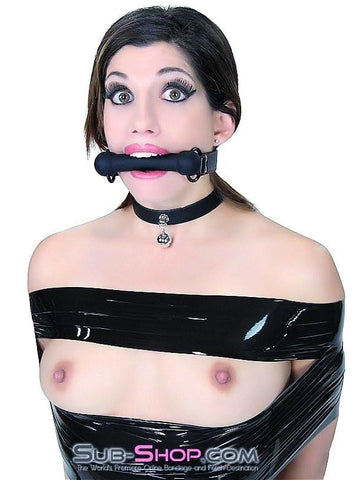 7929DL    Black Beauty Silicone Rubber Comfort Bit Gag - Sub-Shop.comGags - 8