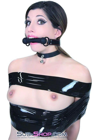 7929DL    Black Beauty Silicone Rubber Comfort Bit Gag - Sub-Shop.comGags - 10