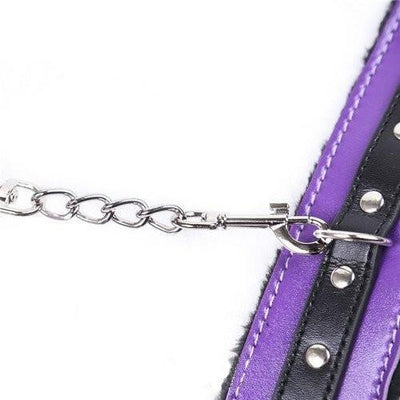 7946M       Purple Seduction Fur Lined Cuffs - Sale BDSM, Bondage Gear, Adult Toys, Bondage Sex, Orgasm Belt, Male Chastity, Gags. Bondage Slave Collars, Wrist Cuffs, Submissive, Dominant, Master, Mistress, Crossdresser, Sub-Shop Bondage and Fetish Superstore