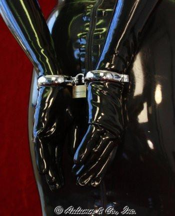 8723SM  Locking Chrome Wide Bracelet Wrist Cuffs - Sub-Shop Bondage and Fetish Superstore