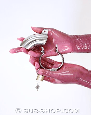8738SM      Steel Open-End Locking Chastity Tube & Cock Ring - <b>MEGA Deal</b> - Sale BDSM, Bondage Gear, Adult Toys, Bondage Sex, Orgasm Belt, Male Chastity, Gags. Bondage Slave Collars, Wrist Cuffs, Submissive, Dominant, Master, Mistress, Crossdresser, Sub-Shop Bondage and Fetish Superstore