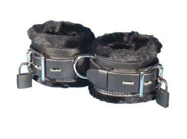 8749BD  Locking Fur Lined Wrist Cuffs - Sub-Shop.comCuffs - 8