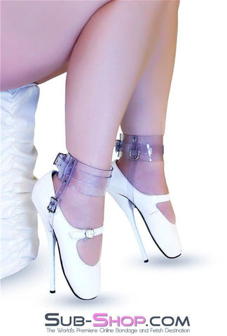 8784A  Clear Luxe PVC Buckling Ankle/Shoe Cuffs - Sub-Shop.comWrist and Ankle Bondage - 3