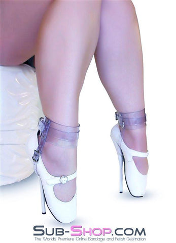 8784A  Clear Luxe PVC Buckling Ankle/Shoe Cuffs - Sub-Shop.comWrist and Ankle Bondage - 4