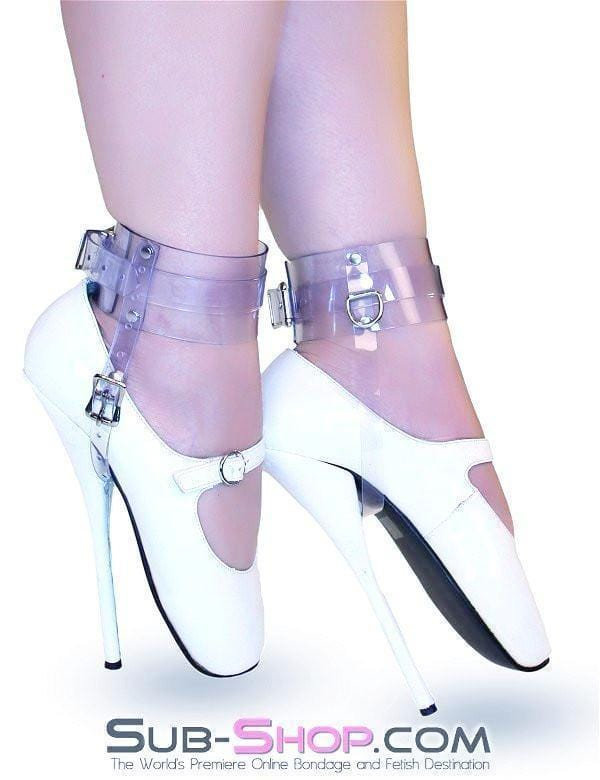 Clear Luxe PVC Buckling Ankle/Shoe Cuffs - Sale BDSM, Bondage Gear, Adult Toys, Bondage Sex, Orgasm Belt, Male Chastity, Bondage Gag. Bondage Slave Collars, Wrist Cuffs, Submissive, Dominant, Master, Mistress, Cross Dressing, Sex Toys, Bondage Sale, Bondage Clearance, MEGA Deal Bondage, Sub-Shop Bondage and Fetish Superstore