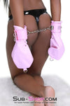 Pink Prisoner Lacing and Locking Pink Bondage Mittens Set - Sale BDSM, Bondage Gear, Adult Toys, Bondage Sex, Orgasm Belt, Male Chastity, Bondage Gag. Bondage Slave Collars, Wrist Cuffs, Submissive, Dominant, Master, Mistress, Cross Dressing, Sex Toys, Bondage Sale, Bondage Clearance, MEGA Deal Bondage, Sub-Shop Bondage and Fetish Superstore