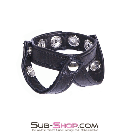 8853HS      Leather Y-Style Cock & Ball Separator Strap - Sale BDSM, Bondage Gear, Adult Toys, Bondage Sex, Orgasm Belt, Male Chastity, Gags. Bondage Slave Collars, Wrist Cuffs, Submissive, Dominant, Master, Mistress, Crossdresser, Sub-Shop Bondage and Fetish Superstore