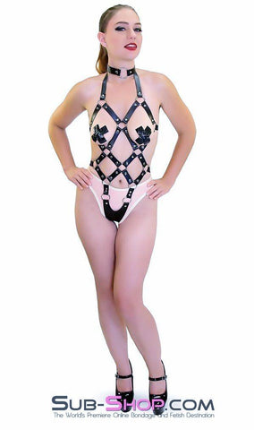 8864HS    Frame Up Strappy Fetish Body Harness - Sub-Shop.comBody Harness - 4