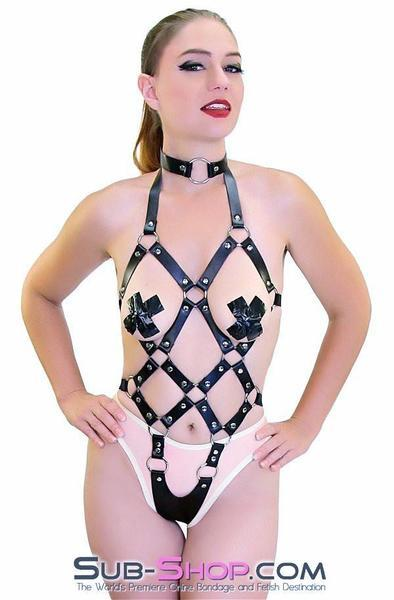 8864HS    Frame Up Strappy Fetish Body Harness - <b>MEGA Deal</b> - Sale BDSM, Bondage Gear, Adult Toys, Bondage Sex, Orgasm Belt, Male Chastity, Gags. Bondage Slave Collars, Wrist Cuffs, Submissive, Dominant, Master, Mistress, Crossdresser, Sub-Shop Bondage and Fetish Superstore