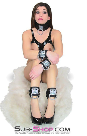 8869A      Dungeon Slave Wide Heavy Bondage Collar