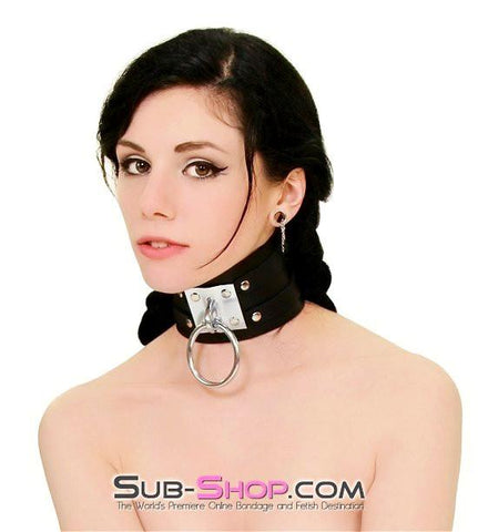 8869A      Dungeon Slave Wide Heavy Bondage Collar - Sub-Shop.comCollar - 2