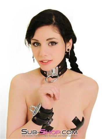8869A      Dungeon Slave Wide Heavy Bondage Collar - Sub-Shop.comCollar - 8