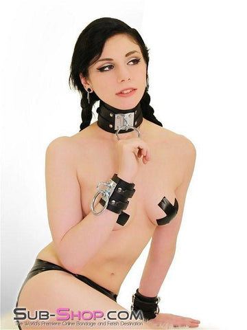 8869A      Dungeon Slave Wide Heavy Bondage Collar - Sub-Shop.comCollar - 12