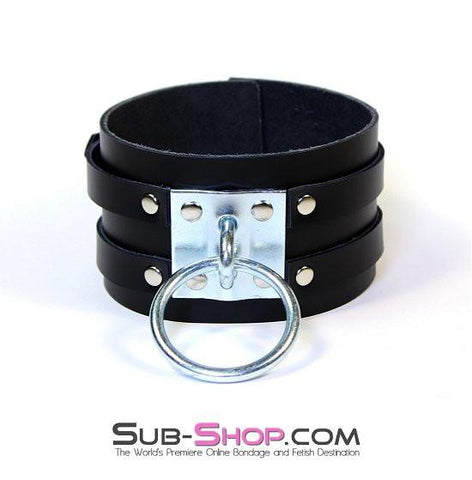 8869A      Dungeon Slave Wide Heavy Bondage Collar - Sub-Shop.comCollar - 9