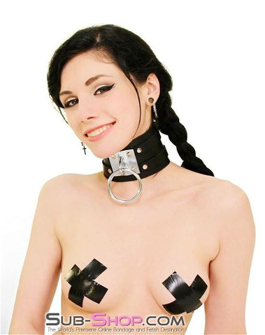 8869A      Dungeon Slave Wide Heavy Bondage Collar - Sub-Shop.comCollar - 4