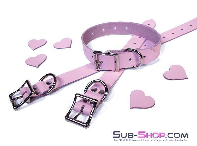 886A      Princess Pink Leather Buckling Bondage Straps - Sale BDSM, Bondage Gear, Adult Toys, Bondage Sex, Orgasm Belt, Male Chastity, Gags. Bondage Slave Collars, Wrist Cuffs, Submissive, Dominant, Master, Mistress, Crossdresser, Sub-Shop Bondage and Fetish Superstore