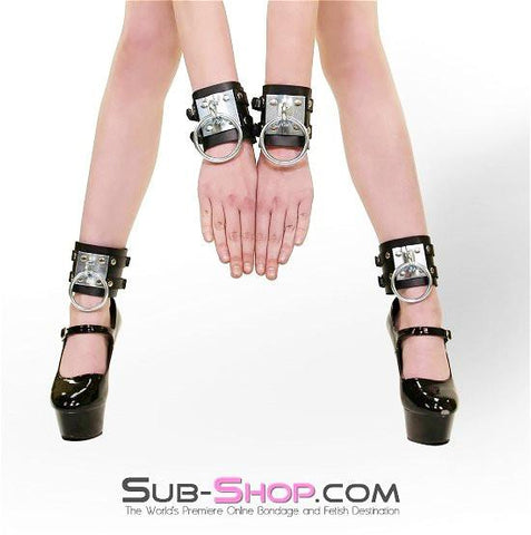 8871A      Dungeon Slave Wide Heavy Bondage Ankle Cuffs - Sub-Shop.comWrist and Ankle Bondage - 4