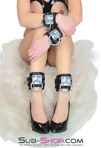 8871A      Dungeon Slave Wide Heavy Bondage Ankle Cuffs
