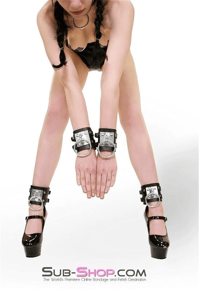 Dungeon Slave Wide Heavy Bondage Wrist Cuffs - Sale BDSM, Bondage Gear, Adult Toys, Bondage Sex, Orgasm Belt, Male Chastity, Bondage Gag. Bondage Slave Collars, Wrist Cuffs, Submissive, Dominant, Master, Mistress, Cross Dressing, Sex Toys, Bondage Sale, Bondage Clearance, MEGA Deal Bondage, Sub-Shop Bondage and Fetish Superstore
