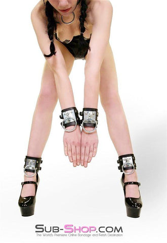 8871A      Dungeon Slave Wide Heavy Bondage Ankle Cuffs - Sub-Shop.comWrist and Ankle Bondage - 6