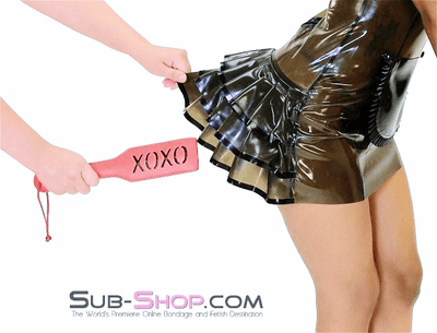 8901HS      Red Marks XOXO Impression Paddle - Sale BDSM, Bondage Gear, Adult Toys, Bondage Sex, Orgasm Belt, Male Chastity, Gags. Bondage Slave Collars, Wrist Cuffs, Submissive, Dominant, Master, Mistress, Crossdresser, Sub-Shop Bondage and Fetish Superstore