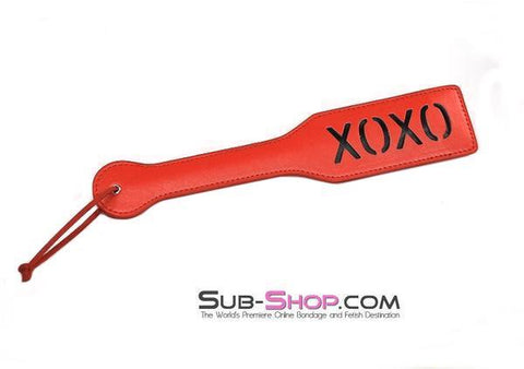 8901HS      Red Marks XOXO Impression Paddle - <b>MEGA Deal</b> - Sale BDSM, Bondage Gear, Adult Toys, Bondage Sex, Orgasm Belt, Male Chastity, Gags. Bondage Slave Collars, Wrist Cuffs, Submissive, Dominant, Master, Mistress, Crossdresser, Sub-Shop Bondage and Fetish Superstore