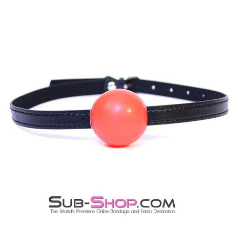 8998DL      Bondage Basics Red Rubber Classic Ball Gag - Sub-Shop.comBallgag - 8