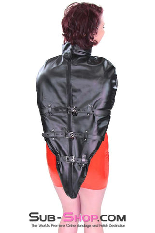 9016DL      Helpless Slave Satin Lined Locking Armbinder Bondage Top - <b>MEGA Deal</b> - Sale BDSM, Bondage Gear, Adult Toys, Bondage Sex, Orgasm Belt, Male Chastity, Gags. Bondage Slave Collars, Wrist Cuffs, Submissive, Dominant, Master, Mistress, Crossdresser, Sub-Shop Bondage and Fetish Superstore