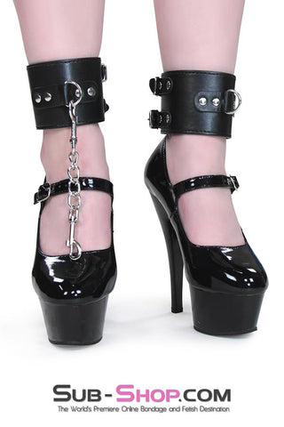 9027M      Black Double Buckle Ankle Cuffs - Sale BDSM, Bondage Gear, Adult Toys, Bondage Sex, Orgasm Belt, Male Chastity, Gags. Bondage Slave Collars, Wrist Cuffs, Submissive, Dominant, Master, Mistress, Crossdresser, Sub-Shop Bondage and Fetish Superstore