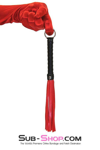 "9031DL      L'il Red Whipper 12"" Leatherette Bondage Whip - <b>MEGA Deal!</b> - Sale BDSM, Bondage Gear, Adult Toys, Bondage Sex, Orgasm Belt, Male Chastity, Gags. Bondage Slave Collars, Wrist Cuffs, Submissive, Dominant, Master, Mistress, Crossdresser, Sub-Shop Bondage and Fetish Superstore"