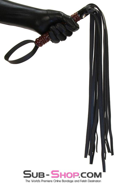 "9032DL      To The Woodshed Wooden Handle 25"" Flogger Whip - Sale BDSM, Bondage Gear, Adult Toys, Bondage Sex, Orgasm Belt, Male Chastity, Gags. Bondage Slave Collars, Wrist Cuffs, Submissive, Dominant, Master, Mistress, Crossdresser, Sub-Shop Bondage and Fetish Superstore"