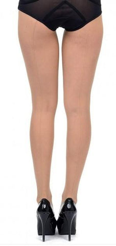 949L      Nude Back Seamed Pantyhose