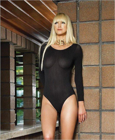 950L      Private Dancer Long Sleeve Bodysuit - Sub-Shop.comTeddy