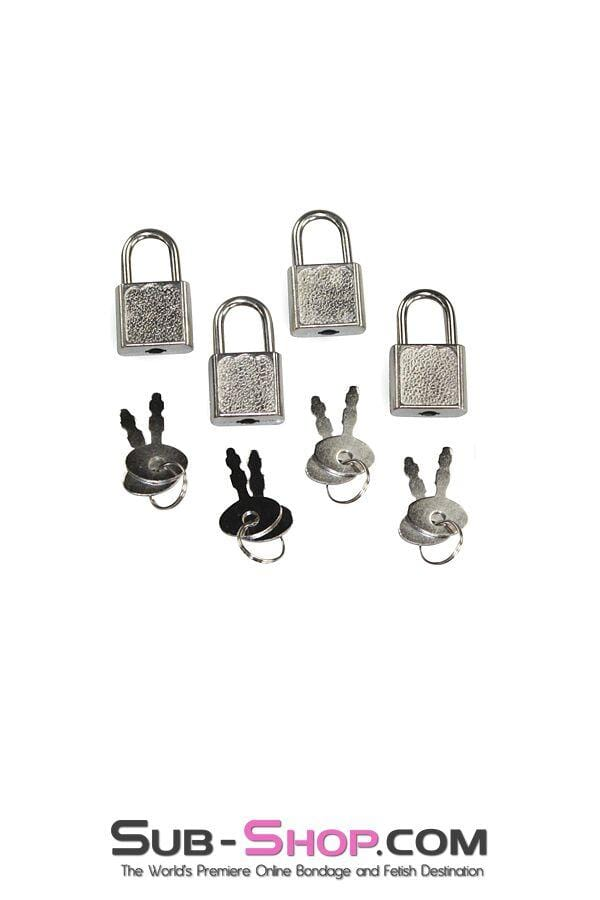 9727A      Mini Charm Bondage Padlocks, Set of 4 - MEGA Deal
