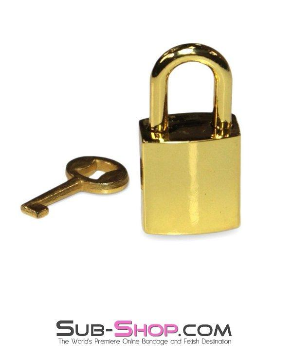 9734K      Gold Series Bondage Gear Padlock - Sale BDSM, Bondage Gear, Adult Toys, Bondage Sex, Orgasm Belt, Male Chastity, Gags. Bondage Slave Collars, Wrist Cuffs, Submissive, Dominant, Master, Mistress, Crossdresser, Sub-Shop Bondage and Fetish Superstore