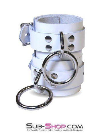 9741A   Pure Submission Locking Leather Ankle Cuffs - Sub-Shop.comWrist and Ankle Bondage - 3