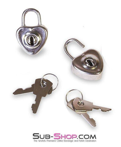 9746A      My Heart's Desire Padlocks Pair - Sub-Shop Bondage and Fetish Superstore
