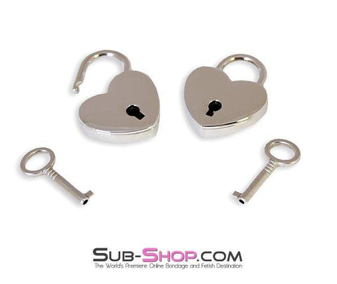 9751A      Under Lock & Key Chrome Heart Padlocks Pair - Sub-Shop.comPadlock - 1
