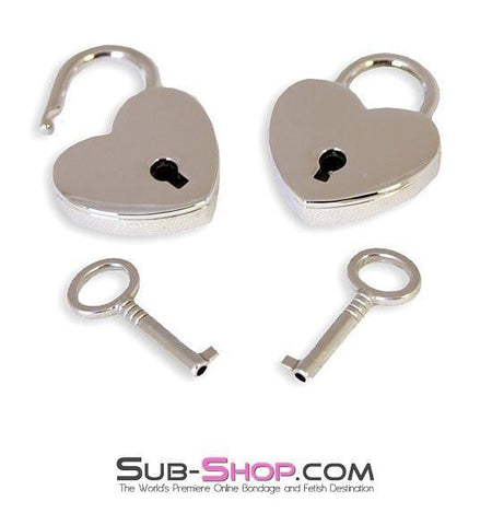 9751A      Under Lock & Key Chrome Heart Padlocks Pair - Sub-Shop.comPadlock - 2